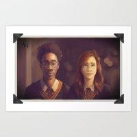James and Lily Art Print
