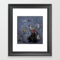 Night Clown Framed Art Print