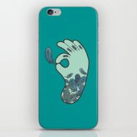 iPhone & iPod Skin featuring Blue Feather Tattoo by Evannave