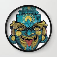 Morpho Mask Wall Clock