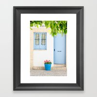 Blue And Light Framed Art Print