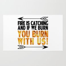 Fire is Catching! Rug