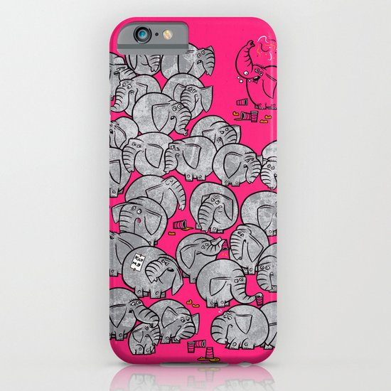 Elephants Never Forget to Party - PINK iPhone & iPod Case