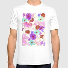Oriental blossom Mens Fitted Tee White SMALL