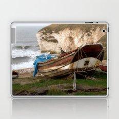 Boats at Thornwick Bay Laptop & iPad Skin