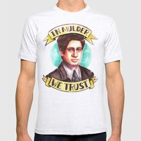 In Mulder We Trust Mens Fitted Tee Ash Grey SMALL