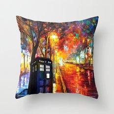 Tardis Full Color Throw Pillow