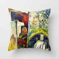 The Painter's Studio Throw Pillow