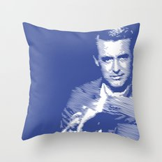 Cary Grant Blue Throw Pillow