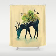 Shower Curtain featuring Watering (A Life Into It… by Budi Kwan