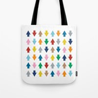 Arrows Up And Down Tote Bag