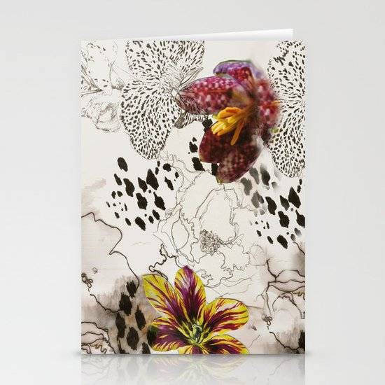 orchids Stationery Card