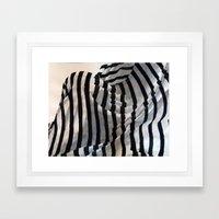 Behind Bars Framed Art Print