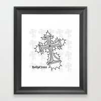 Hollycross Logo Framed Art Print