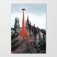 Bloody Tomorrows Canvas Print