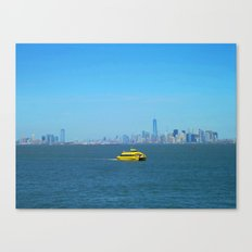 New York Water Taxi Canvas Print
