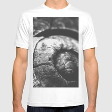 Shell-Black edition White SMALL Mens Fitted Tee