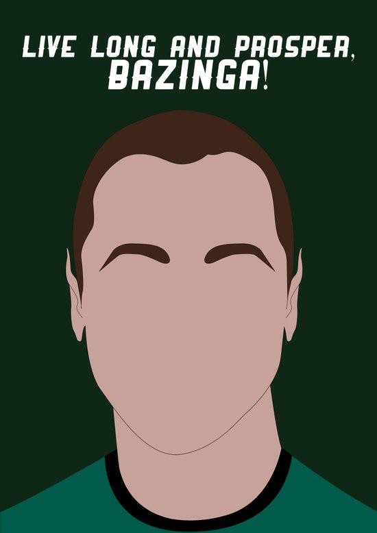 Live Long and Prosper, Bazinga! Canvas Print