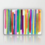 Laptop & iPad Skin featuring Colorful Stripes 1 by Mareike Böhmer Grap…