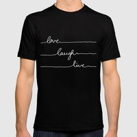 Love Laugh Live (Black) Mens Fitted Tee Black SMALL