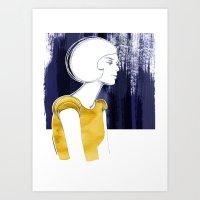 Irma Gold Art Print