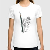 what a big pencil you have Womens Fitted Tee White SMALL
