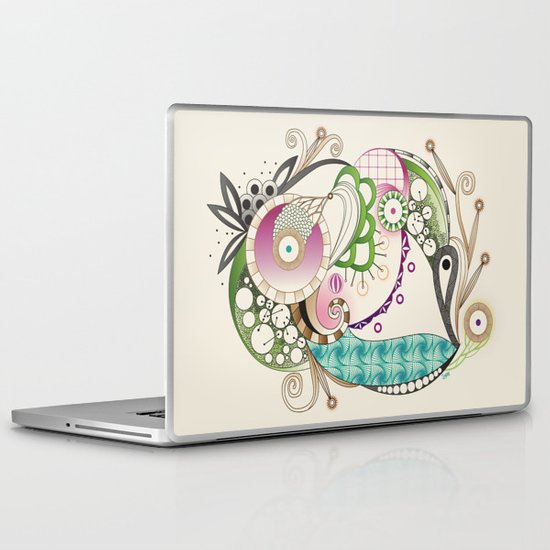 Autumn tangle, sienna - purple color set Laptop & iPad Skin