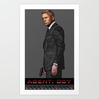 AGENT: 007 Art Print