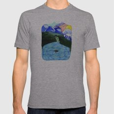 Landscapes / Nr. 1 Mens Fitted Tee Athletic Grey SMALL