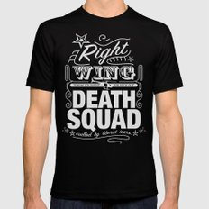Right Wing Death Squad 6 Mens Fitted Tee Black SMALL
