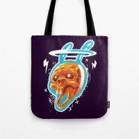 Electric Rabbit Tote Bag
