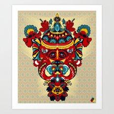Elephant Flowers Art Print