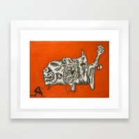 we be trippn' cats & dogs Framed Art Print