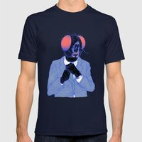 The Fly Mens Fitted Tee Navy SMALL