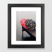 Rainy Day Friends Framed Art Print