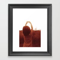Heart And Sky Framed Art Print