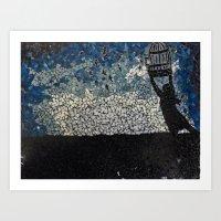 Free Bird  - Glass Mosai… Art Print