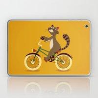 Raccoon on a bicycle Laptop & iPad Skin