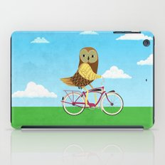 Owl Bicycle iPad Case