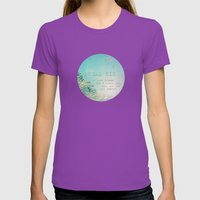 Dream Big Womens Fitted Tee Ultraviolet SMALL