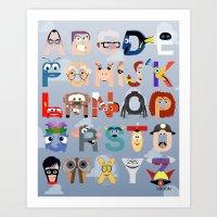 P Is For Pixar (Pixar Al… Art Print