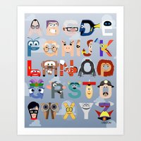 P Is For Pixar (Pixar Al… Art Print