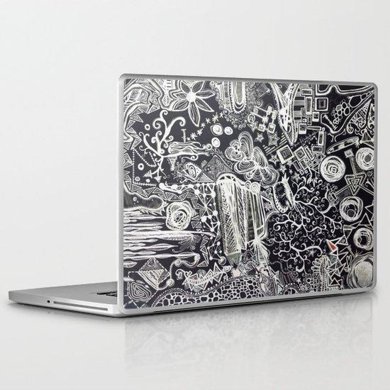 White/Black #2  Laptop & iPad Skin
