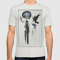 Gothic Kebaya Mens Fitted Tee Silver SMALL