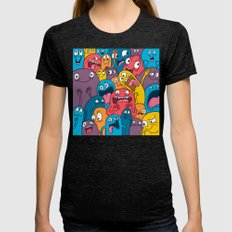 Weird Bros Womens Fitted Tee Tri-Black SMALL