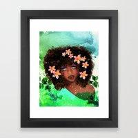 Plumeria girl Framed Art Print