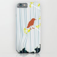 iPhone & iPod Case featuring bird in birch by bri musser