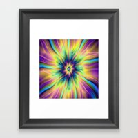 Combustion In Yellow Tur… Framed Art Print