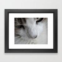 Glamour Kitty Framed Art Print