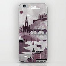 Edinburgh Travel Poster Illustration iPhone & iPod Skin